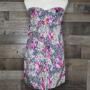 Strapless Floral Dress Myne Mini 6